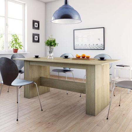 shumee sonomatölgy színű forgácslap étkezőasztal 180 x 90 x 76 cm