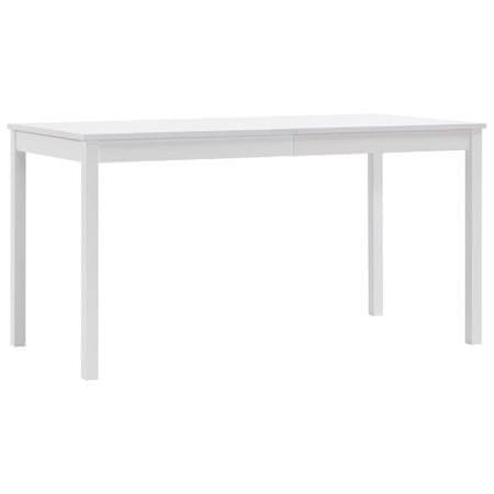 shumee fehér fenyőfa étkezőasztal 140 x 70 x 73 cm