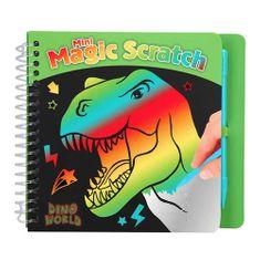 Dino World Notatnik , Z podstawą tęczową, w tym skrobaczką