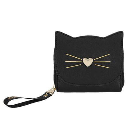 Top Model Najlepszy model portfela, Czarny z motywem kota