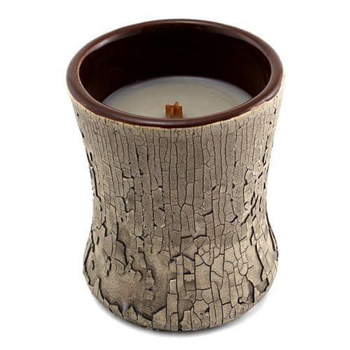 Woodwick Sviečka keramická oválna váza , Oheň v krbe, 133.2 g