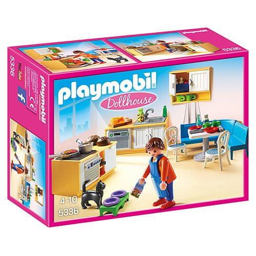 Playmobil Kuchyňa s jedálnym kútom , Domček pre bábiky, 84 dielikov