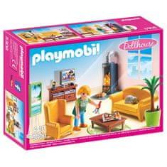 Playmobil Salon z kominkiem , Domek dla lalek, 35 sztuk, 35 sztuk