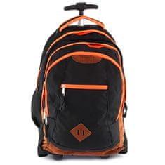 Smash Školní batoh trolley , černá lemovaná neonově oranžovou