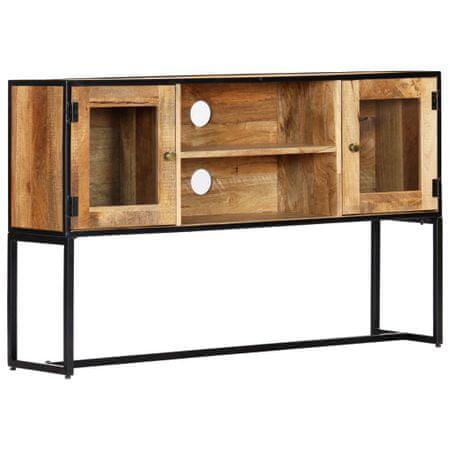 Szafka pod TV, 120 x 30 x 75 cm, lite drewno odzyskane