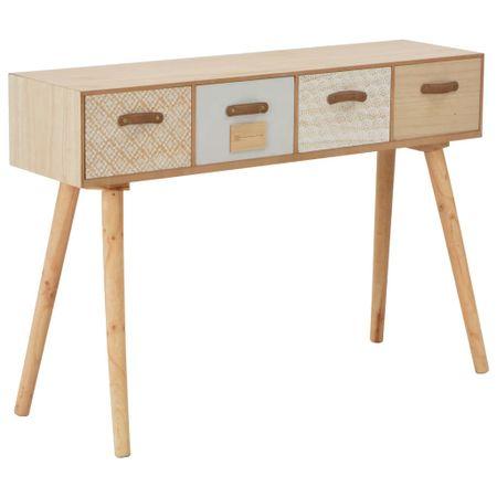 shumee 4-fiókos tömör fenyőfa tálalóasztal 110 x 30 x 75 cm