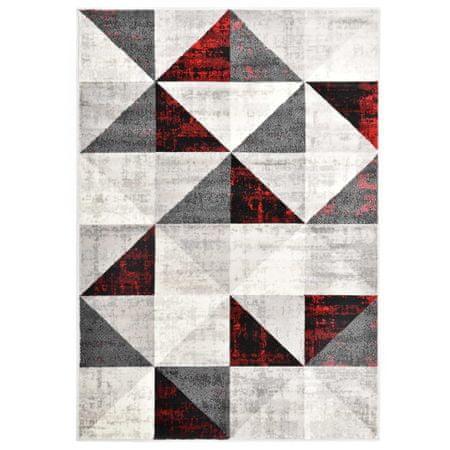 shumee Preproga črna in rdeča 160x230 cm PP