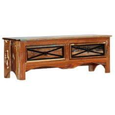 Szafka pod TV, 120 x 30 x 40 cm, lite drewno odzyskane
