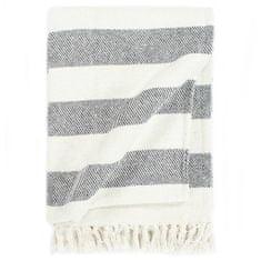 shumee Deka, bavlna, pruhovaná 160x210 cm, antracitová