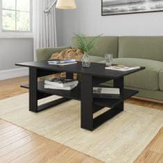 shumee Konferenční stolek černý 110 x 55 x 42 cm dřevotříska