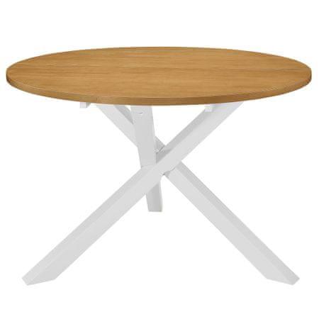 shumee Jedilna miza MDF 120x75 cm bela