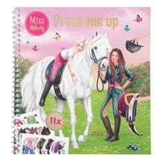 Miss Melody kreatív munkafüzet, Öltöztesd fel, 11 matrica