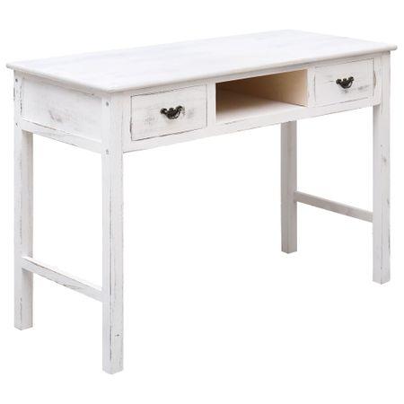 shumee antik fehér fa tálalóasztal 110 x 45 x 76 cm