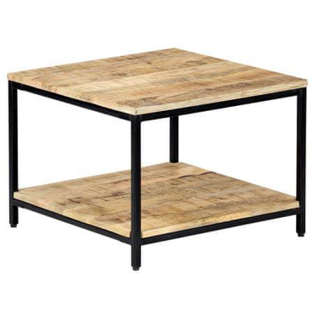 slomart Klubska mizica 60x60x45 cm trden mangov les
