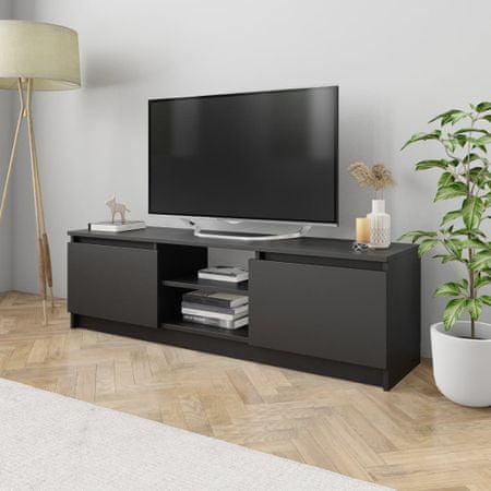 shumee fekete forgácslap TV-szekrény 120 x 30 x 35,5 cm