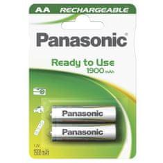 PANASONIC AA újratölthető elemek, NiMH 1.2V / 1900 mAh, 2 db / csomag.