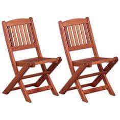 shumee Detské jedálenské stoličky 2 ks masívne eukalyptové drevo
