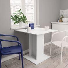 shumee Jídelní stůl bílý 80 x 80 x 75 cm dřevotříska