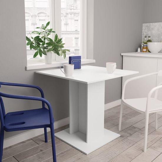 Jedálenský stolík biely 80x80x75 cm drevotrieska