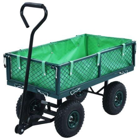 shumee Ogrodowy wózek ręczny, zielony, 250 kg