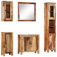 shumee 5dílný set koupelnového nábytku masivní sheeshamové dřevo