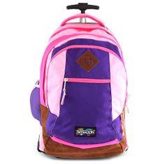 Smash Školní batoh trolley , světle růžová lemovaná tmavě růžovou