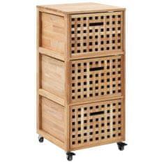 shumee Skrinka do kúpeľne 41x41x91 cm masívne orechové drevo