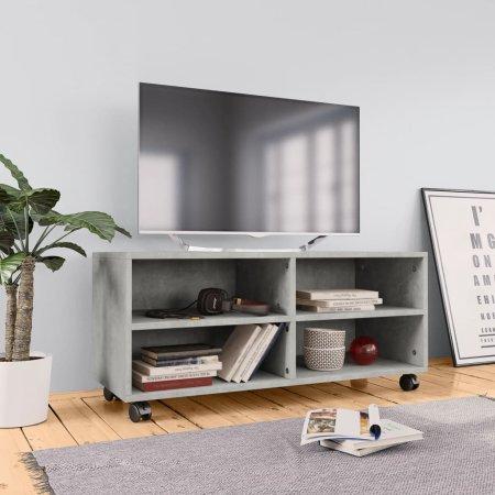 shumee betonszürke forgácslap TV-szekrény görgőkkel 90 x 35 x 35 cm