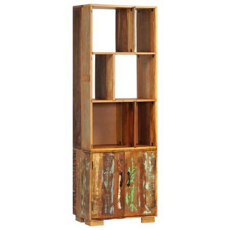 shumee tömör újrahasznosított fa könyvespolc 60 x 35 x 180 cm