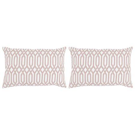 Poduszki ręcznie wykonane, 2 szt., 45 x 60 cm, taupe ze wzorem