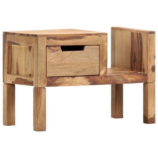 Stojan na časopisy 58 x 30 x 40 cm masivní sheeshamové dřevo