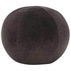 Puf, aksamit bawełniany, 50 x 35 cm, antracytowy