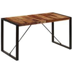 shumee Jídelní stůl 140 x 70 x 75 cm masivní sheeshamové dřevo