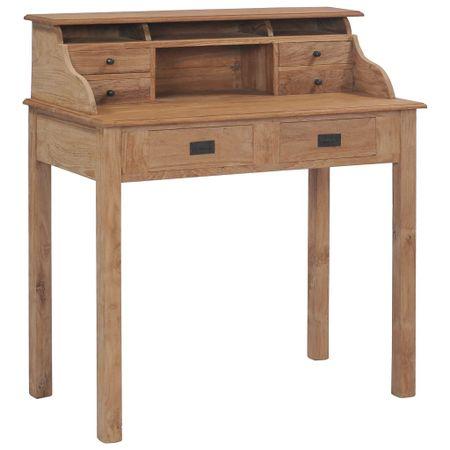 shumee Pisalna miza iz trdne tikovine 90x50x100 cm