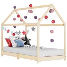 shumee Detský posteľný rám 70x140 cm borovicový masív