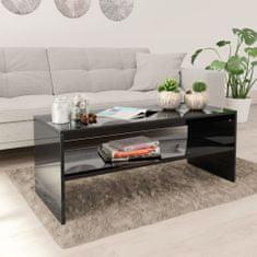 shumee Konferenční stolek černý vysoký lesk 100x40x40 cm dřevotříska