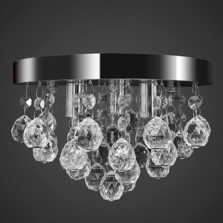shumee Mennyezeti függő lámpa kristály csillár króm