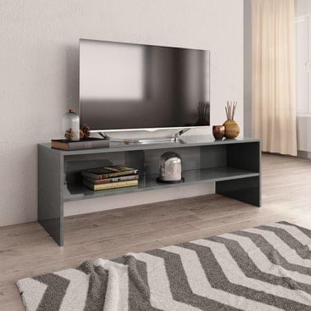 shumee Szafka pod TV, szara, wysoki połysk, 120x40x40cm, płyta wiórowa