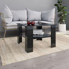 Konferenčný stolík lesklý čierny 60x60x42 cm drevotrieska