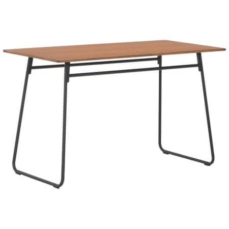 shumee barna tömör furnérlemez és acél étkezőasztal 120 x 60 x 73 cm