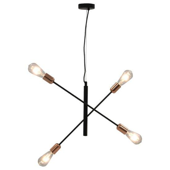 shumee Stropní světlo se žhavícími žárovkami 2 W černé a měď E27