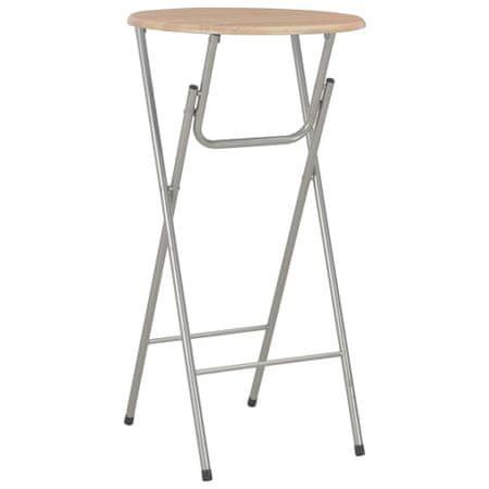 shumee tölgyszínű MDF bárasztal 60 x 112 cm