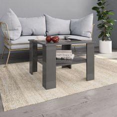 Konferenčný stolík lesklý sivý 60x60x42 cm drevotrieska