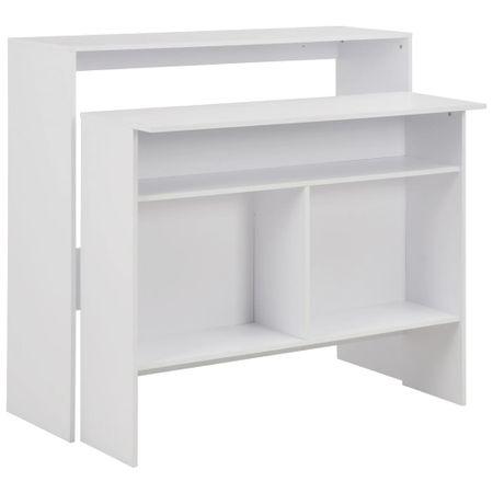 shumee fehér bárasztal 2 asztallappal 130 x 40 x 120 cm