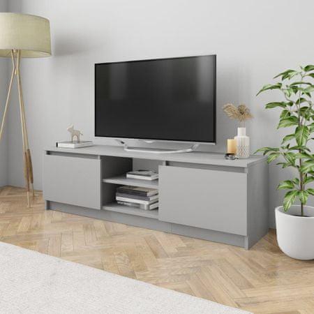 shumee TV omarica siva 120x30x35,5 cm iverna plošča