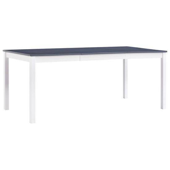 Jídelní stůl bílo-šedý 180 x 90 x 73 cm borové dřevo