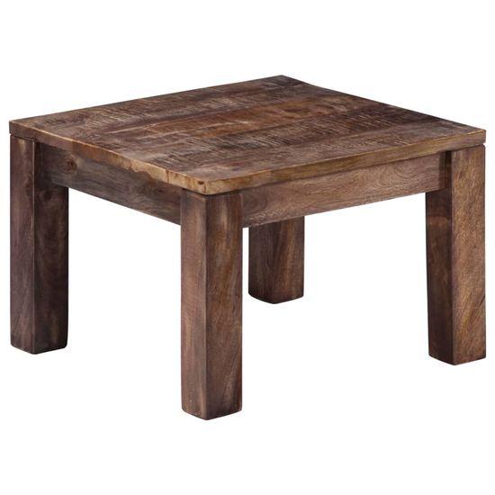 Konferenční stolek 50 x 50 x 35 cm masivní mangovníkové dřevo