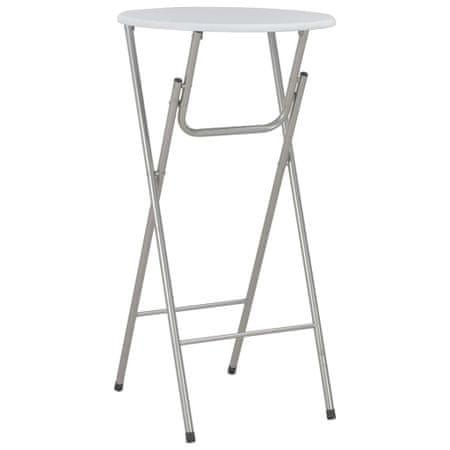 shumee fehér MDF bárasztal 60 x 112 cm