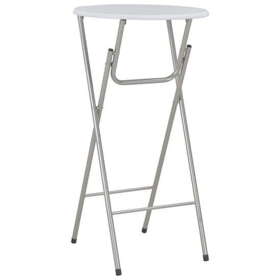 Barový stôl biely 60x112 cm MDF
