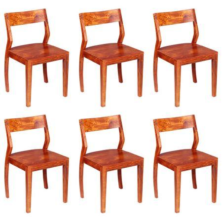 shumee Krzesła do jadalni, 6 szt., lite drewno akacjowe i sheesham
